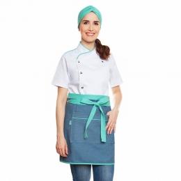 Conjunto Teresa Branca + Alice Jeans Claro Tiffany