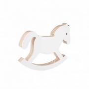 Cavalo Balanço de Acrílico Branco