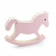 Cavalo Balanço de Acrílico Rosa