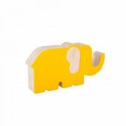 Elefante de Acrílico Amarelo