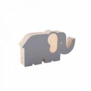 Elefante de Acrílico Cinza