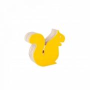 Esquilo de Acrílico Amarelo