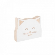 Gatinho de Acrílico Branco