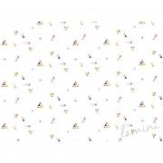 Papel de Parede Fini H=2,50 Branco Vinil Adesivo