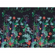 Papel de Parede Floresta Sonho H=2,50 Preto Papel de Parede