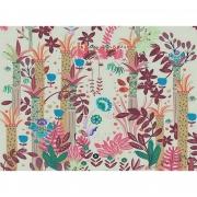 Papel de Parede Floresta Sonho H=2,50 Rosa Vinil Adesivo