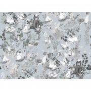 Papel de Parede Woodforest  H=3m Cinza Papel de Parede