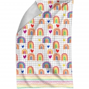 Toalha de Rosto Rainbow - 29X45cm