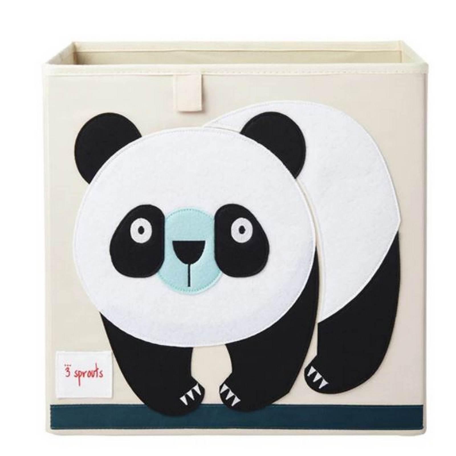 Cesto Organizador Quadrado Panda