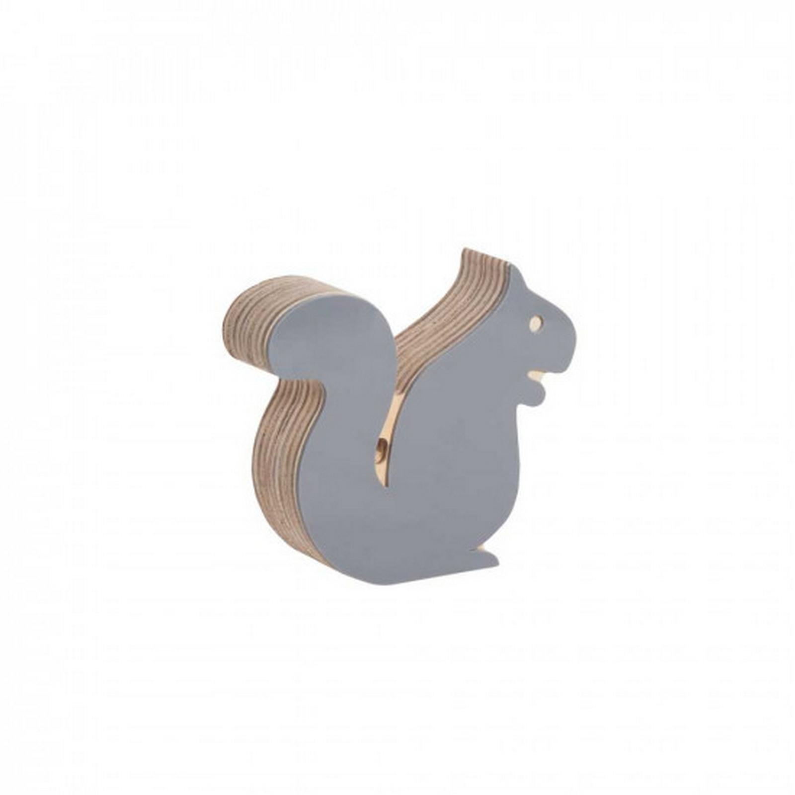 Esquilo de Acrílico Cinza