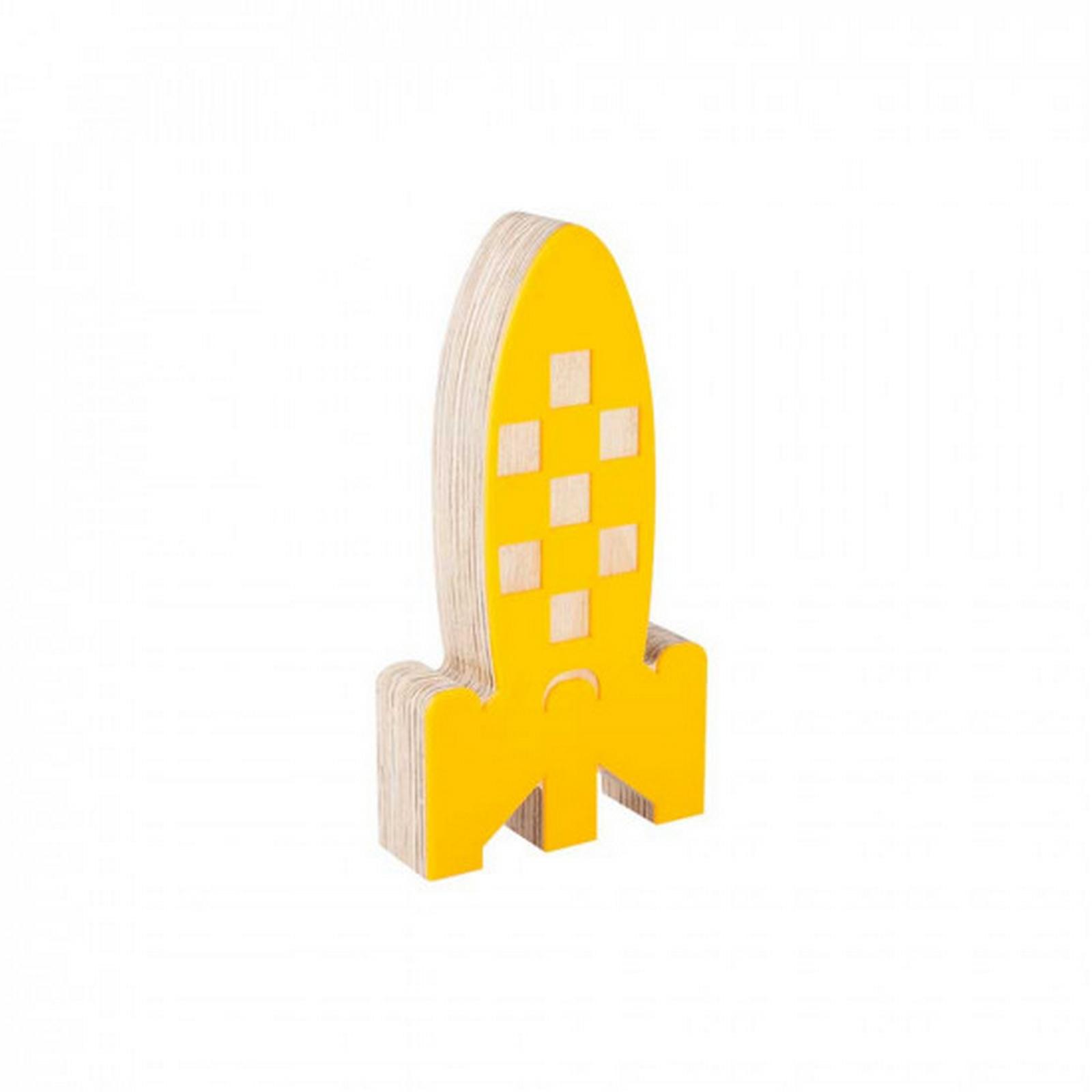 Foguete de Acrílico Amarelo