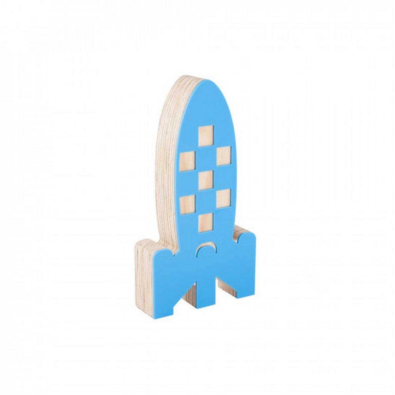 Foguete de Acrílico Azul