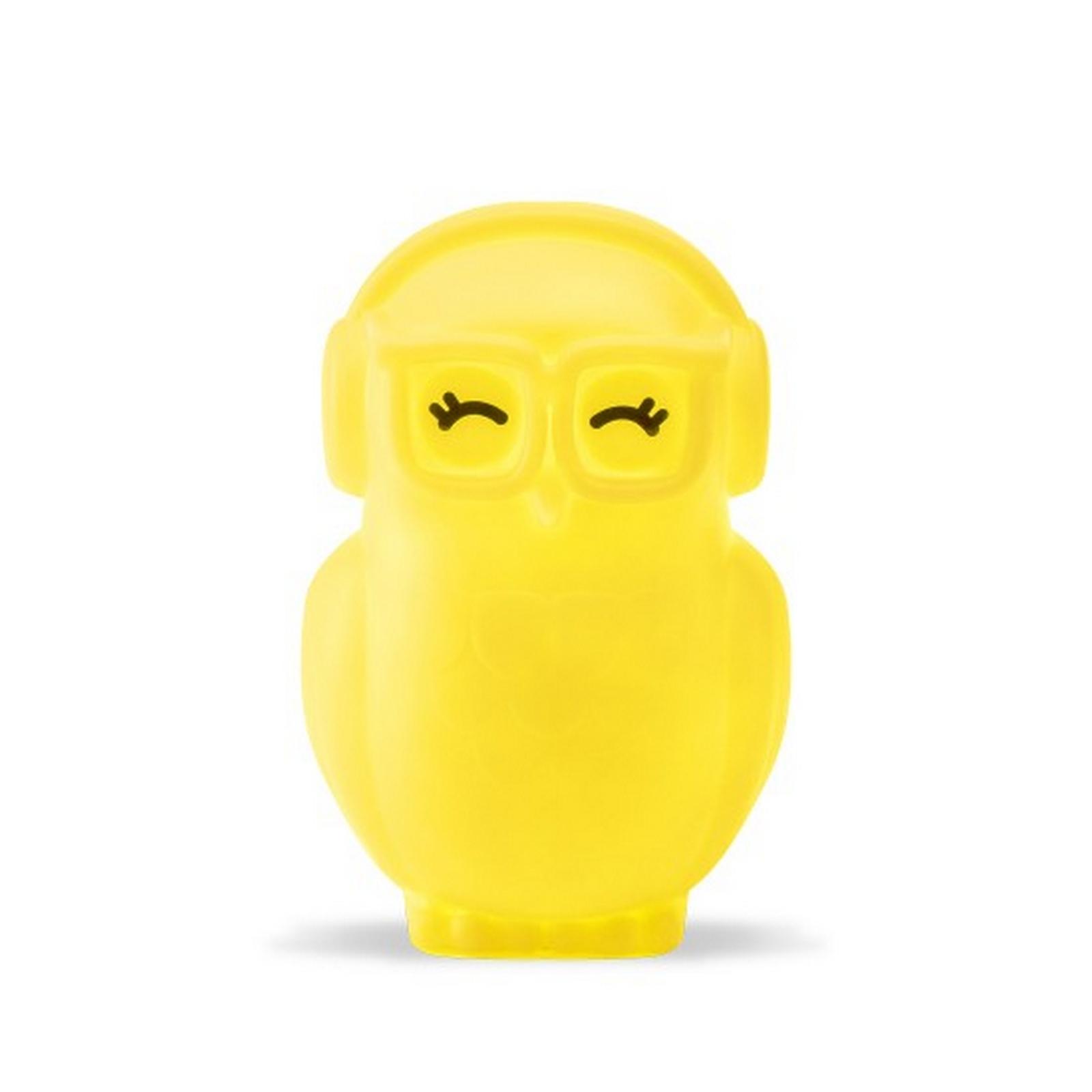 Luminária/Abajur - Coruja Amarelo