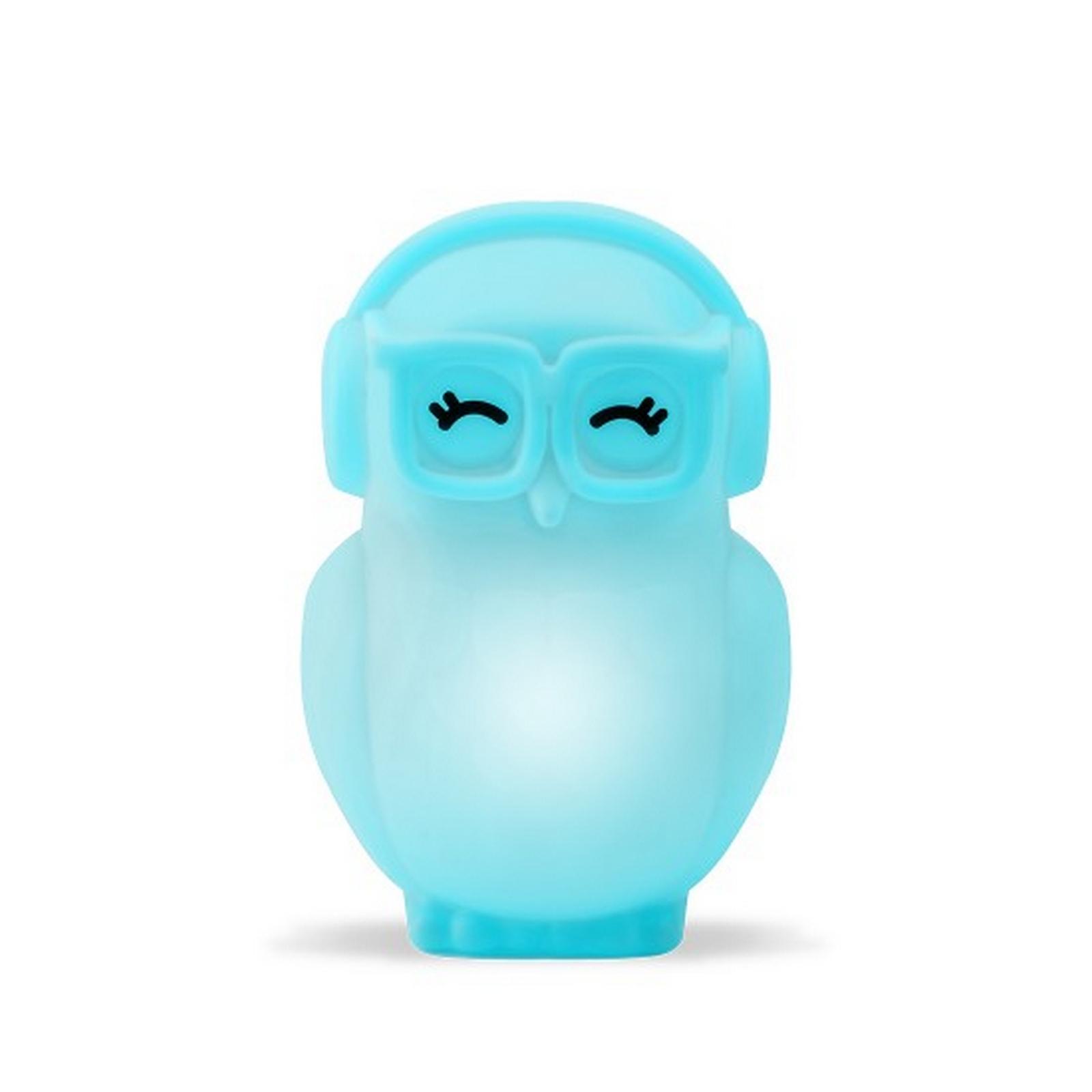 Luminária/Abajur - Coruja Azul