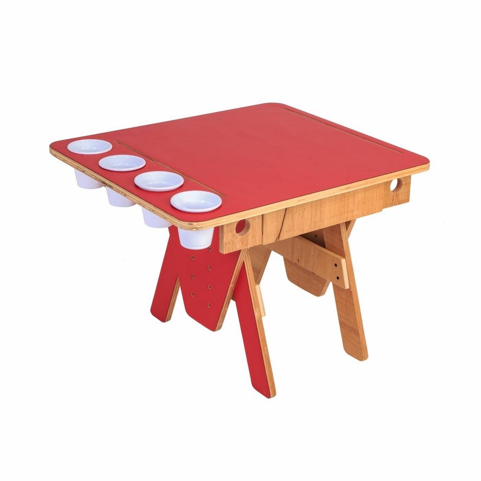 Mesa Quero-Quero Vermelho