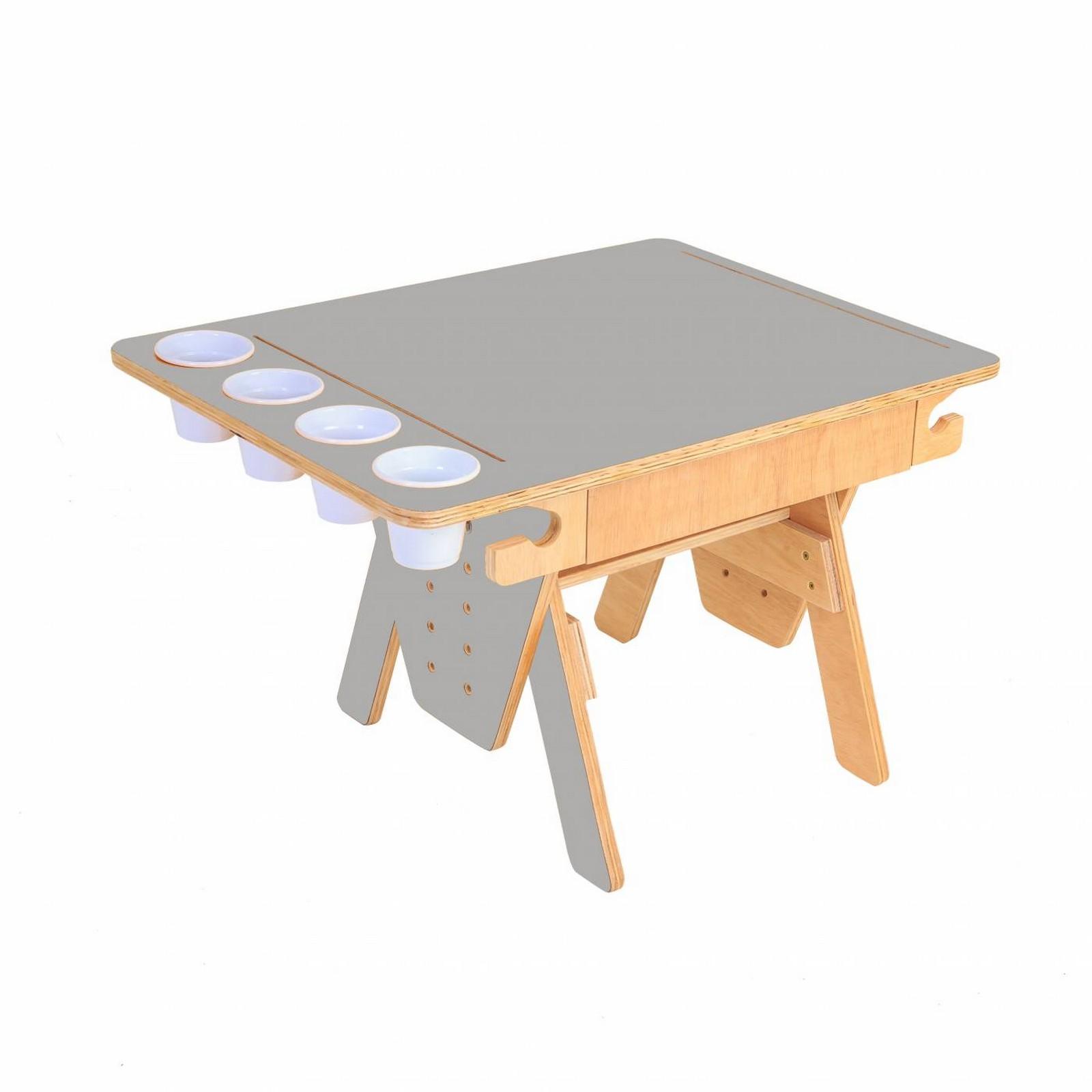 Mesa Quero-Quero Cinza Claro