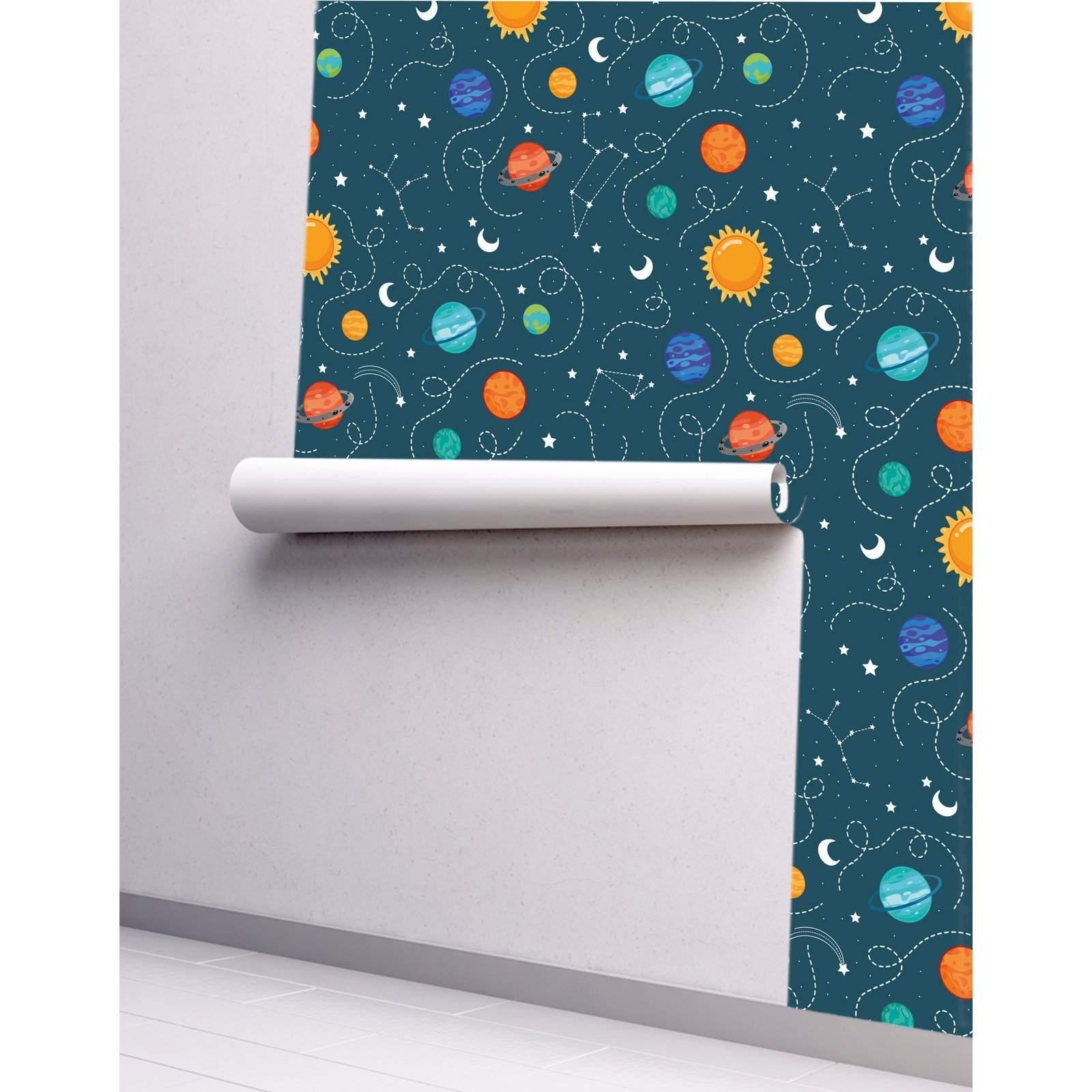 Papel de Parede Adesivo Leitoso - Stars 0,52x3,00m