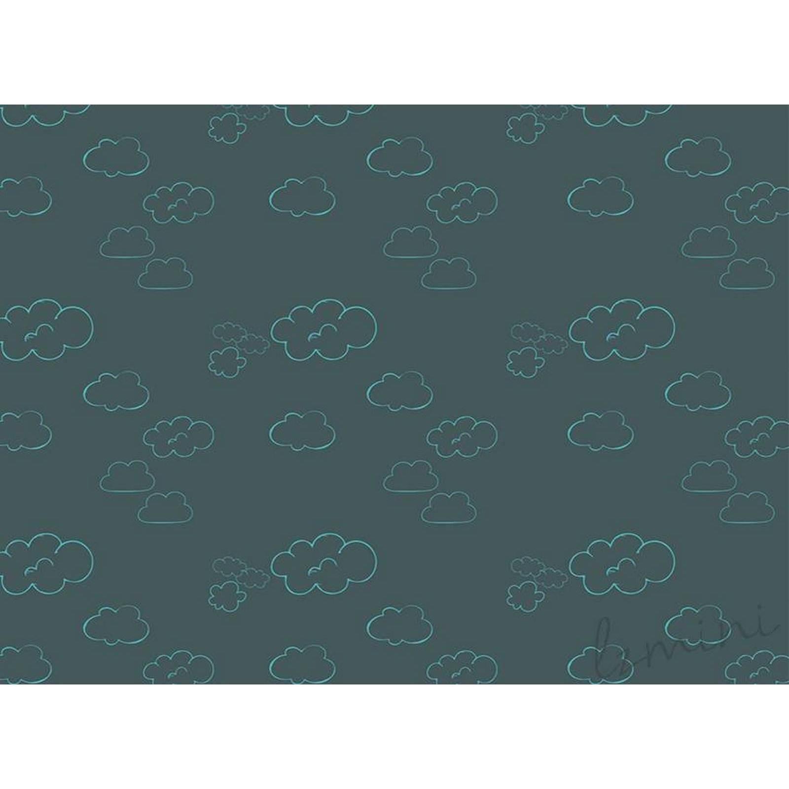 Papel de Parede Cloud H=3m CINZA ESCURO Vinil Adesivo
