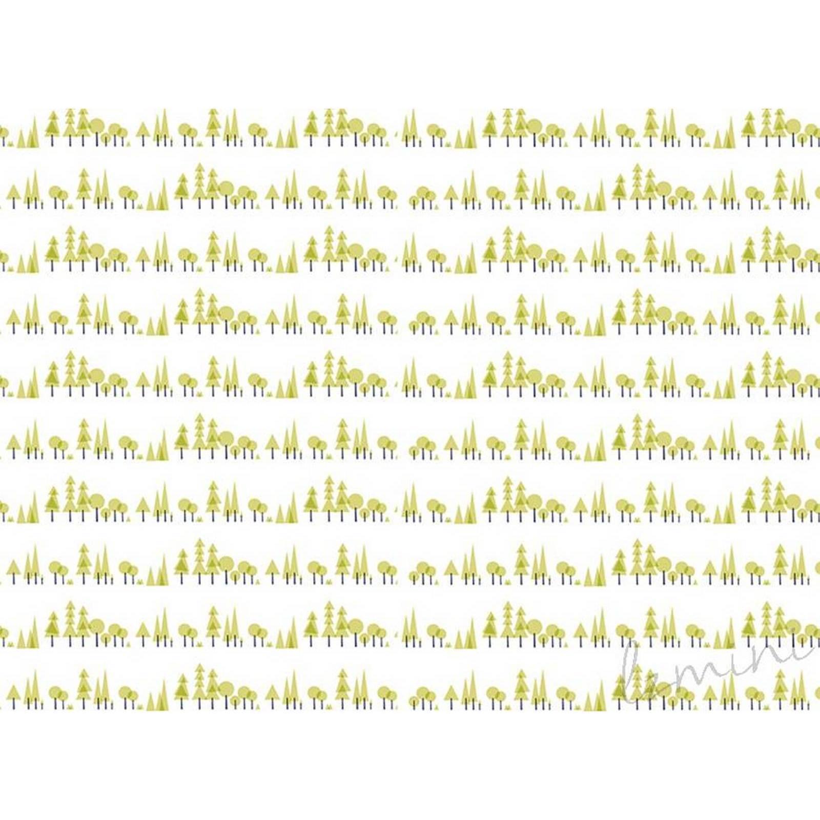 Papel de Parede Pinheiro H=3m Verde Vinil Adesivo