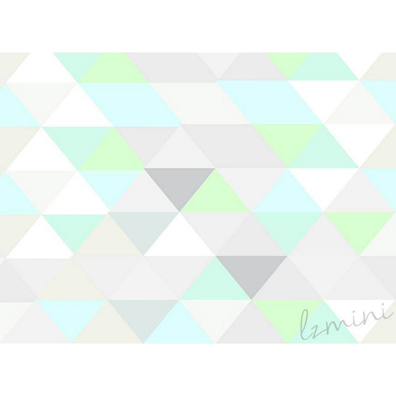 Papel de Parede Trio H=3m Verde Claro Vinil Adesivo