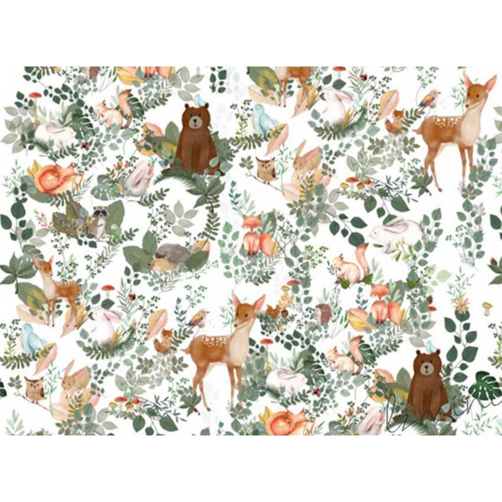 Papel de Parede Woodforest  H=3m Branco Papel de Parede