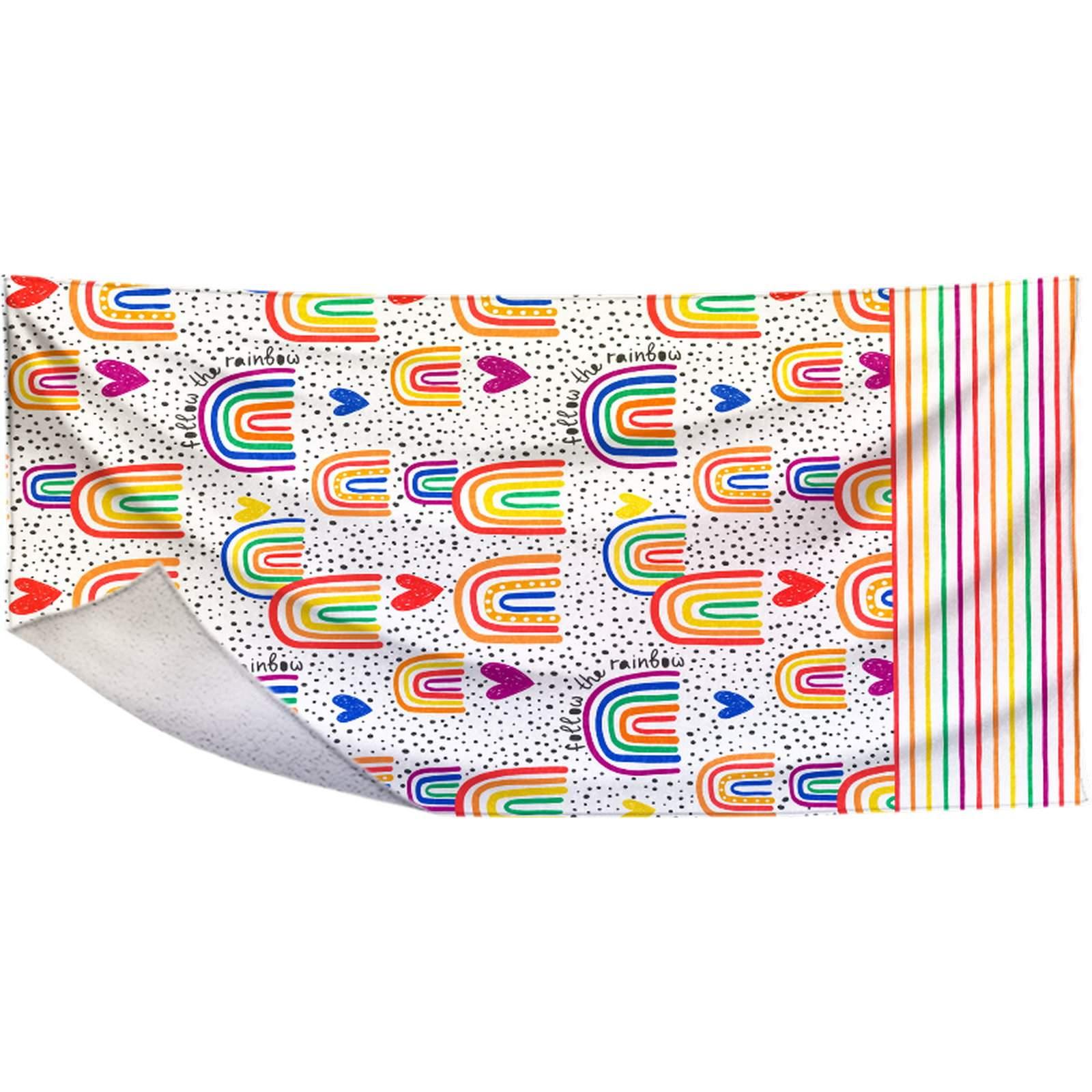 Toalha Fralda Rainbow - 70X135cm