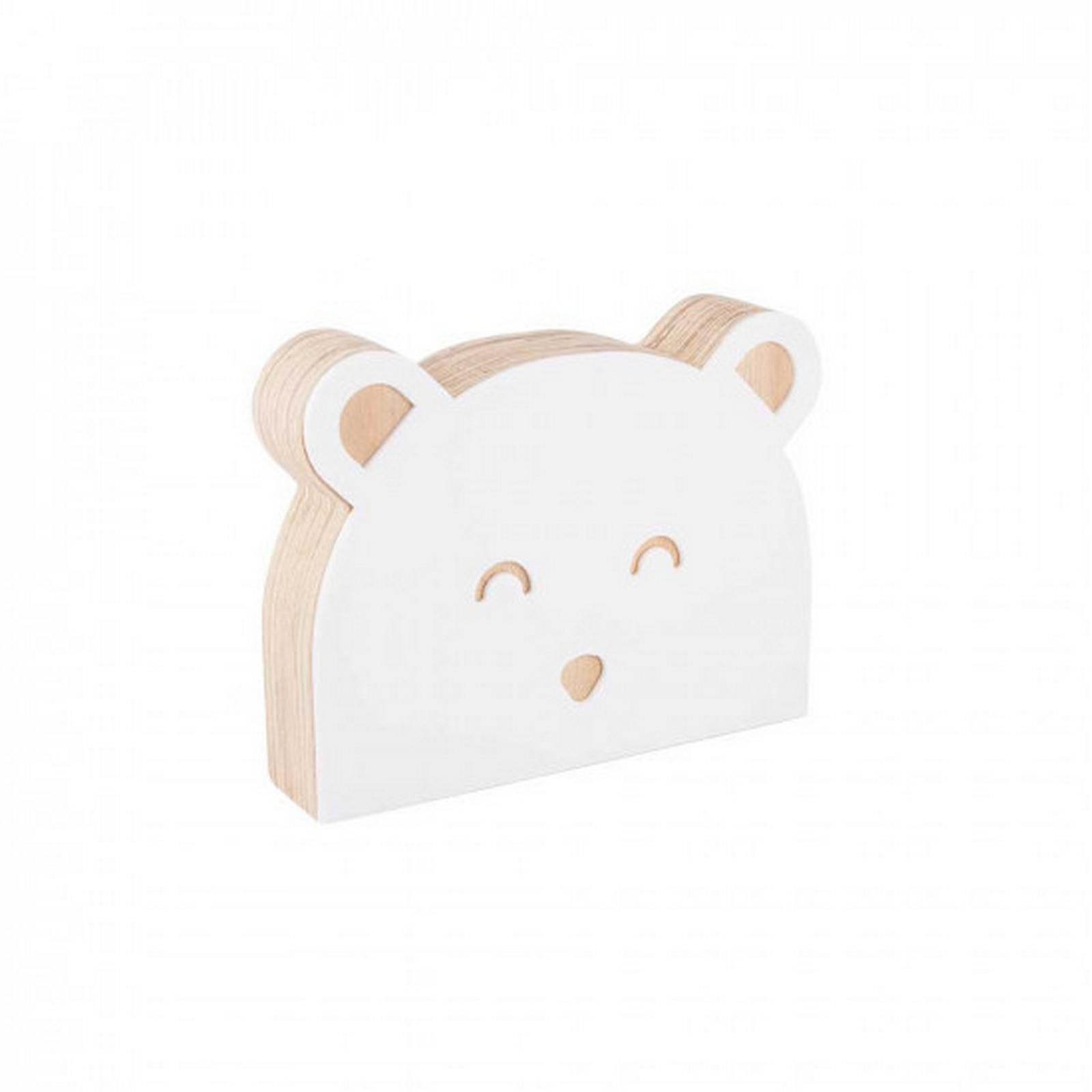 Urso de Acrílico Branco