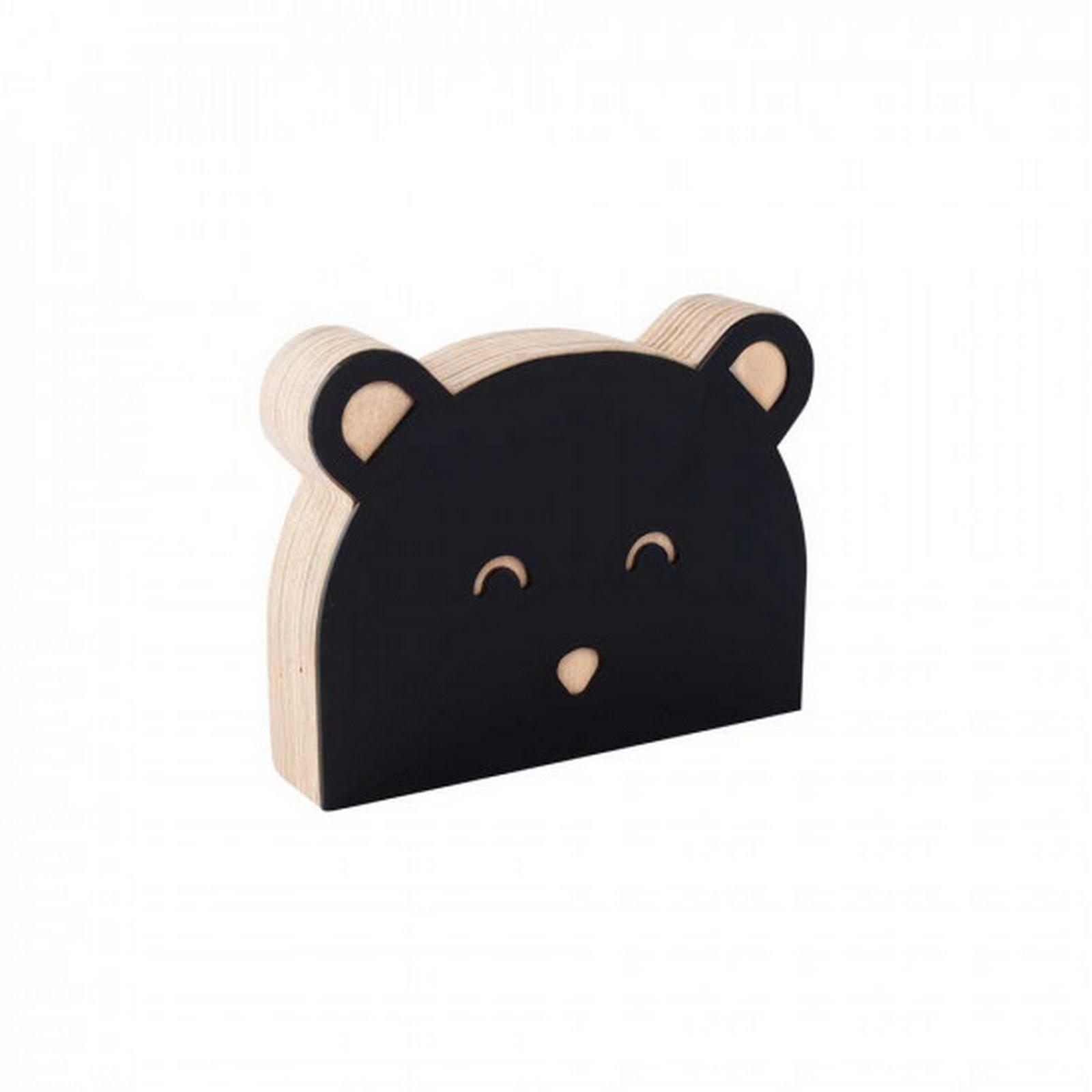 Urso de Acrílico Preto