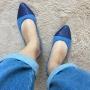 Sapatilha Azul com Glitter MegaChic