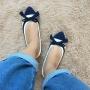 Sapatilha Azul e Branco MegaChic