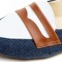 Sapatilha Jeans com Branco MegaChic