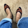 Sapatilha Jeans com Laranja MegaChic