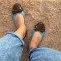 Sapatilha Jeans e Marrom MegaChic