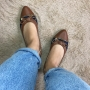 Sapatilha Marrom e Jeans MegaChic