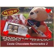 Cesta de Chocolate Namorados Especial