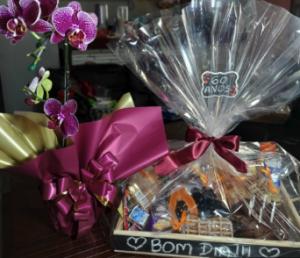 Bandeja de Café da manhã luxo com Orquídea