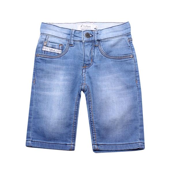 Bermuda Infantil Jeans Claro Toffee