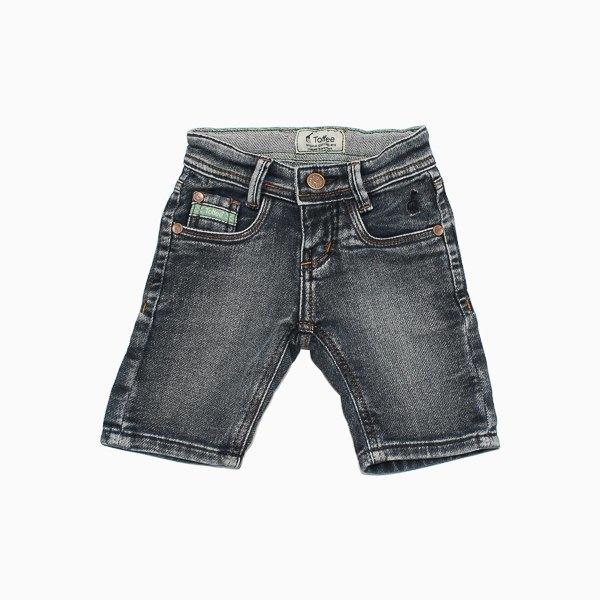 Bermuda Jeans Infantil Malha Escura Toffee