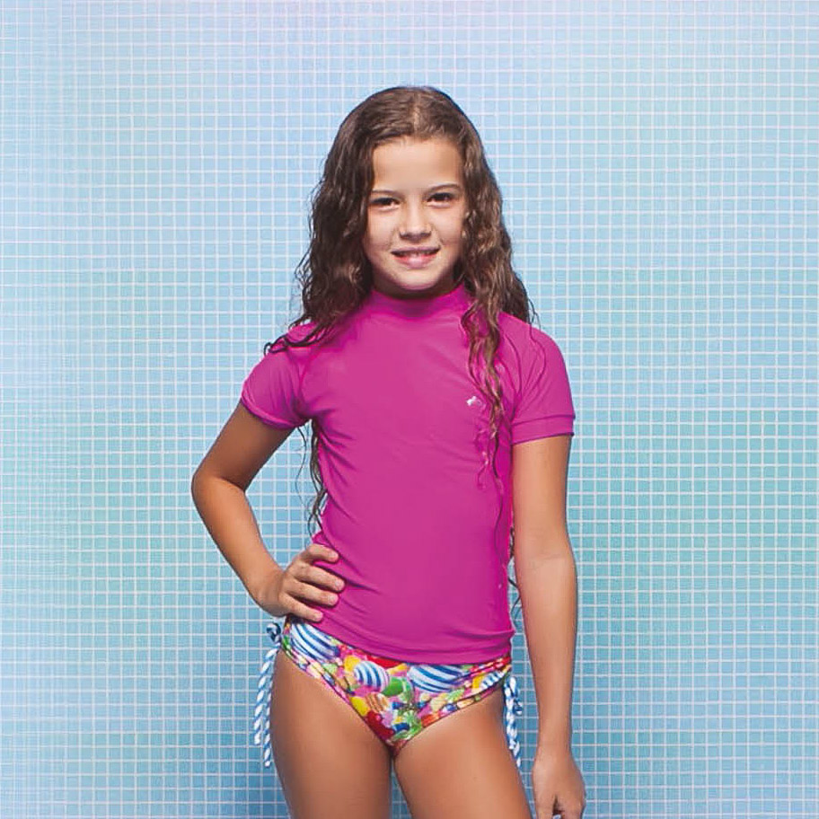 Blusa Menina Kids Ariane Pink Siri Kids