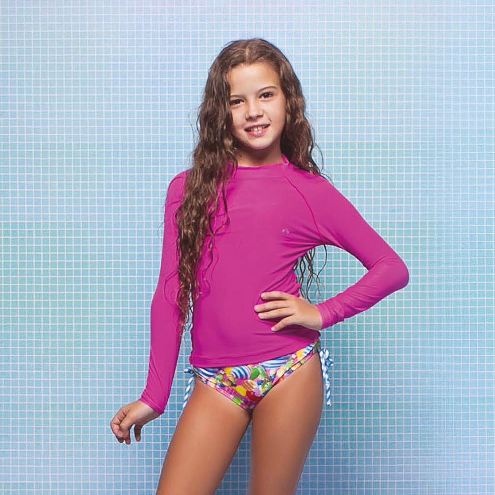 Blusa Menina Kids Letícia Pink Siri Kids