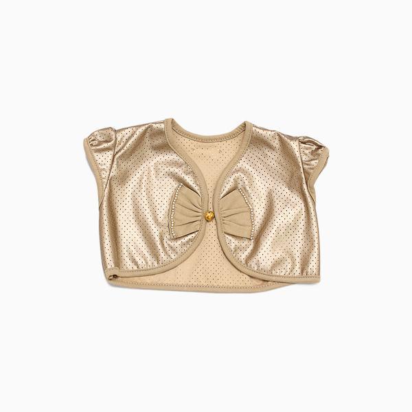 Bolero Elegant Bronze com Pedra de Strass Grow Up