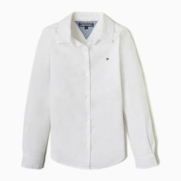 Camisa Menina Oxford Classic Branca Tommy Hilfiger