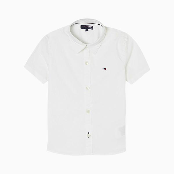 Camisa Menino Poplin Slimfit Tommy Hilfiger
