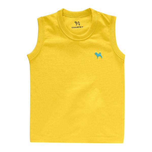 Camiseta Bebê Regata Yellow Charpey