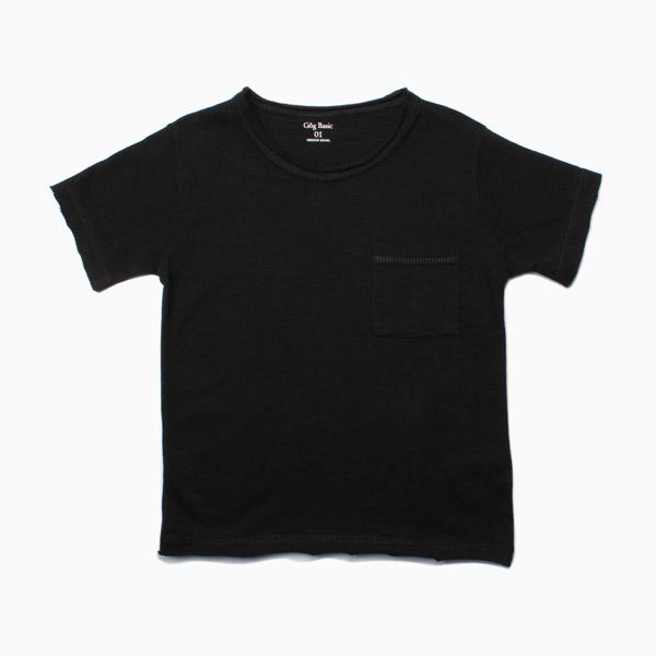 Camiseta Flamê Infantil M/C Preto Gôg Basic