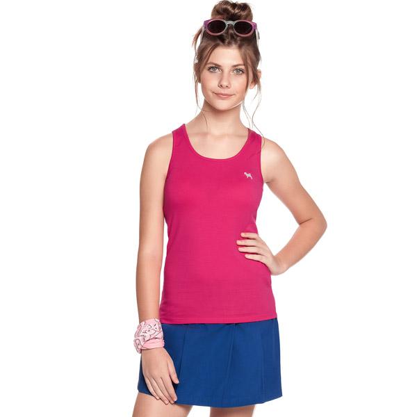 Camiseta Infantil Regata Frutilli Pink Charpey