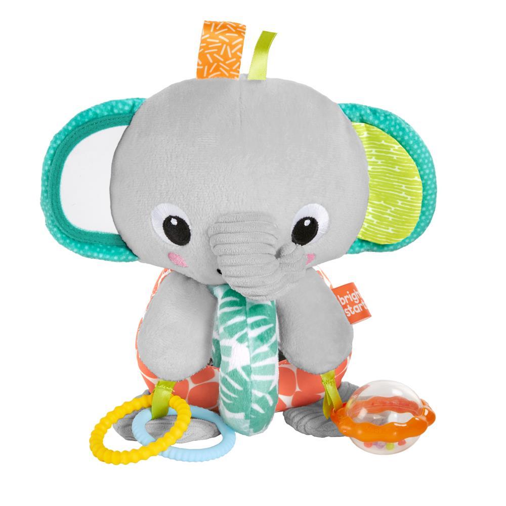 Elefante de Pelúcia com Mordedor e Chocalho