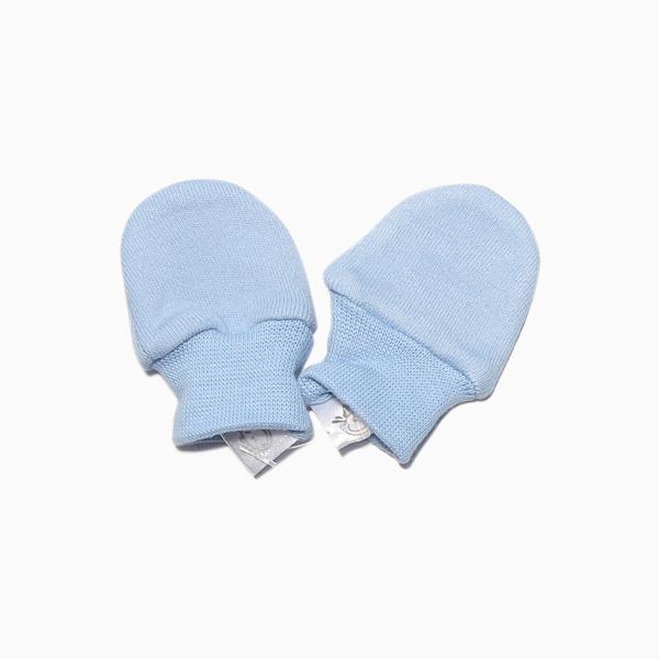 Luva Prematuro Lisa em Suedine Azul D`Bella for Baby