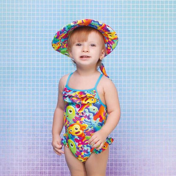 Maiô Menina Baby Elis Play Time Siri Kids