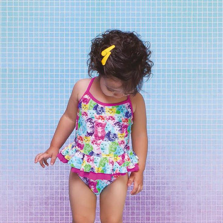 Maiô Menina Baby Melissa Gata Siri Kids